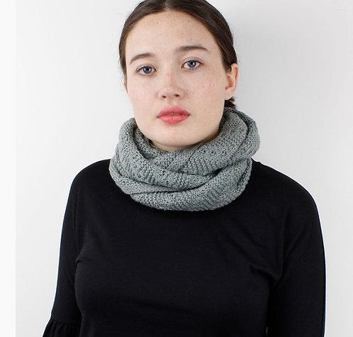 Sage Green Patterned Knit Snood
