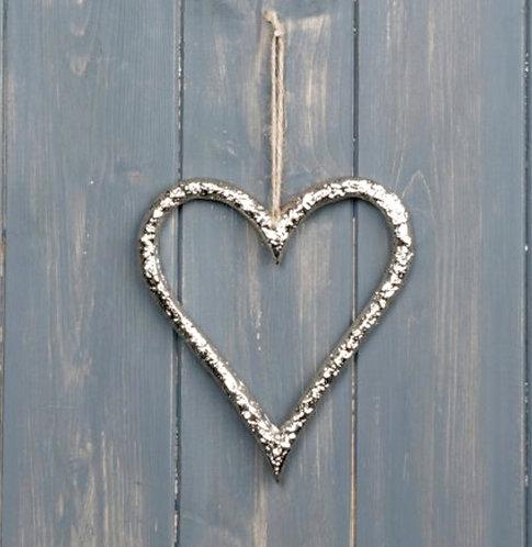 HANGING METAL HEART, 13CM