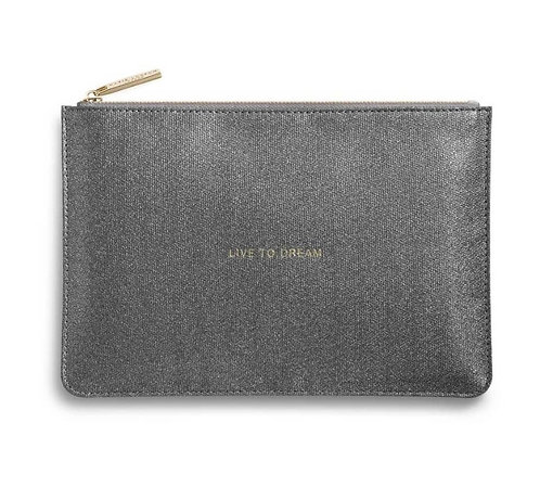 Katie Loxton Live To Dream Perfect Pouch Charcoal
