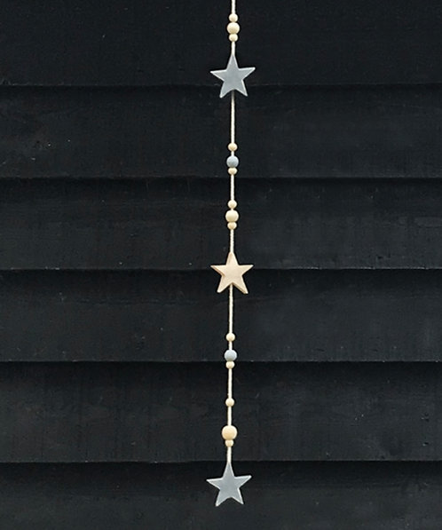 Hanging Garland with Beads and Stars