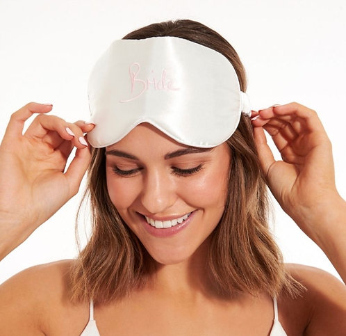 Satin Eye Mask - BRIDE by Katie Loxton