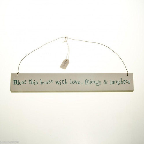 East of India 'Bless this house' Wooden Sign