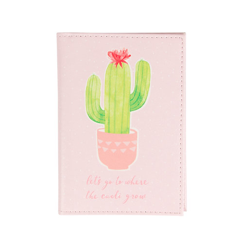 Sass & Belle Cactus Passport Holder
