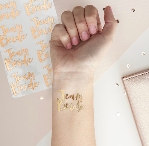 Ginger Ray Team Bride Rose Gold Tattoos