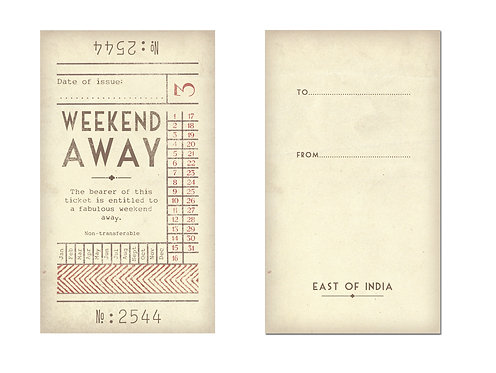East Of India Promise Tickets- Weekend Away