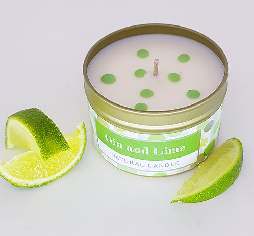 Wild Olive Small Tin Candle Gin & Lime