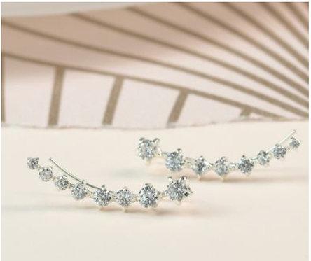 Sterling silver multi crystal earline