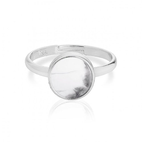 Joma Jewellery  Howlite Ring/ Karma