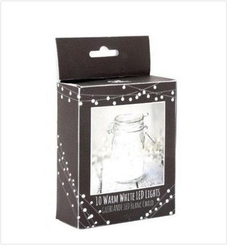 Warm white LED string 130cm