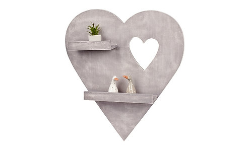 Large Heart Double Shelf