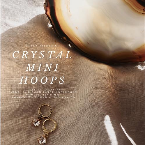 Crystal Mini Hoops