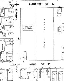 Sanborn map, 1944 footprint