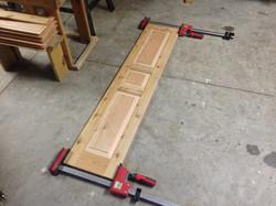 Custom built cedar shutters
