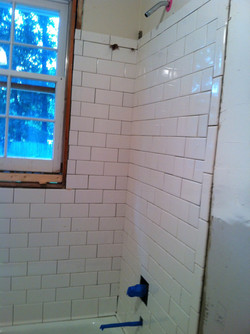 Subway tile in the tub/shower area