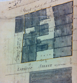 Row houses, late 18th century plat