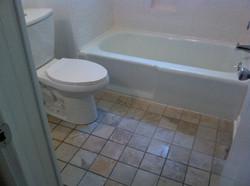 New toilet, new floor
