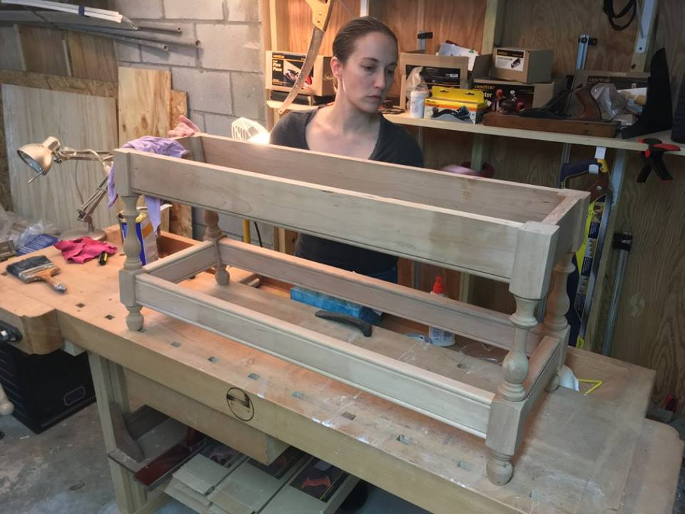 Custom cherry bench