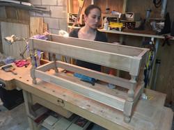 Custom cherry bench