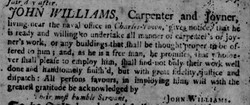 Colonial tradesmen research