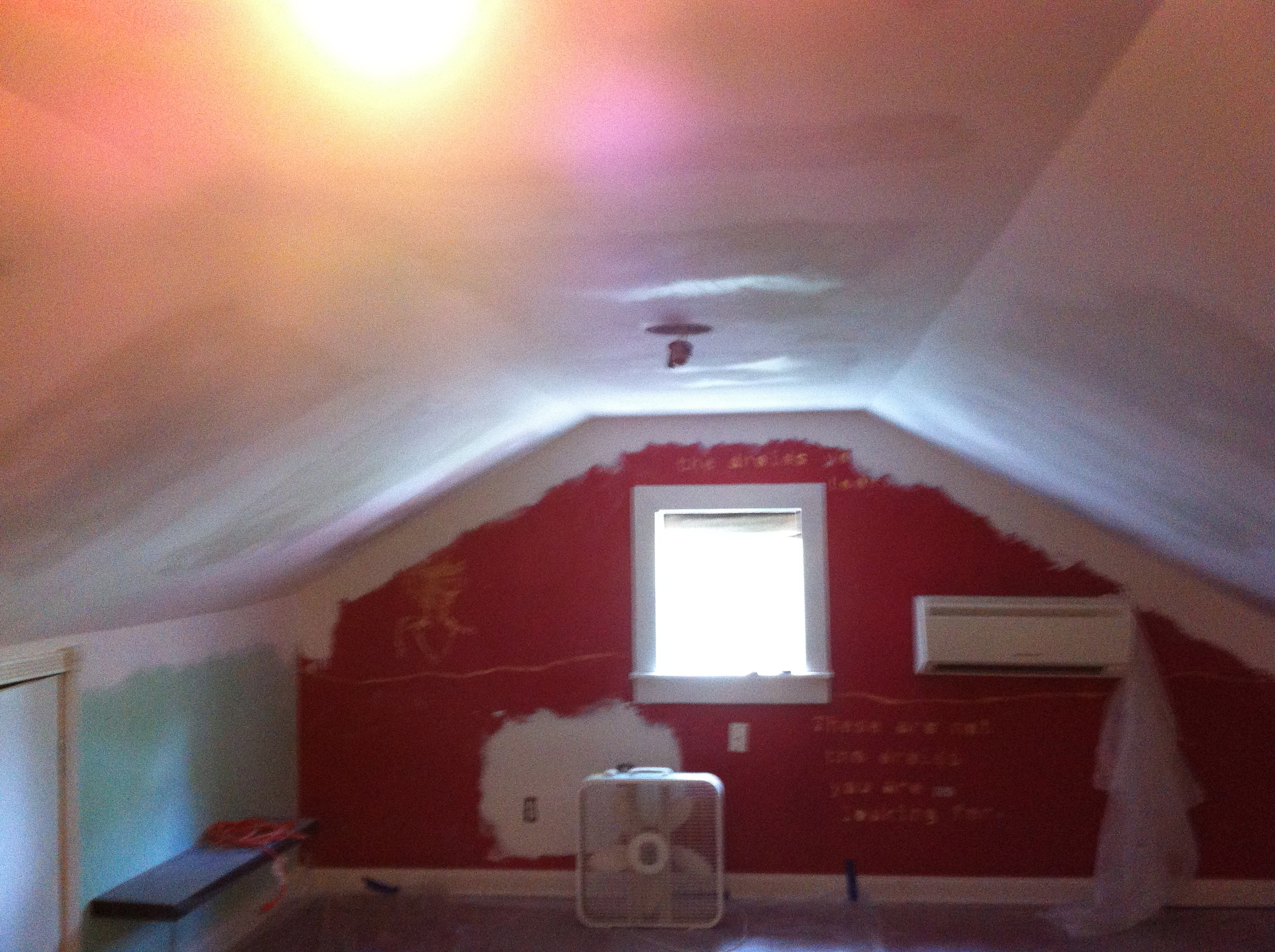 New sheetrock, final finish coat