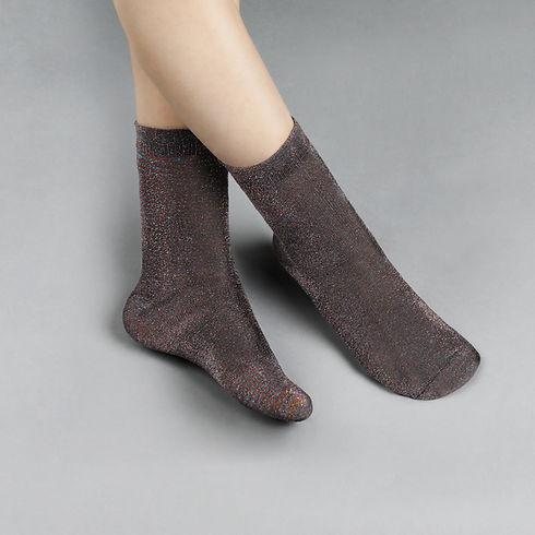 Black Shiny Socks