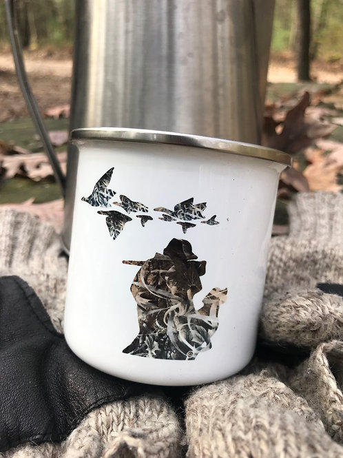 Camo Duck Hunter Camp Mug
