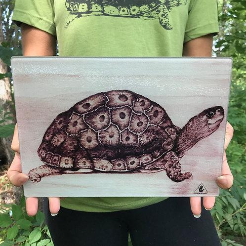 Petoskey Turtle Tempered Glass Cutting Board