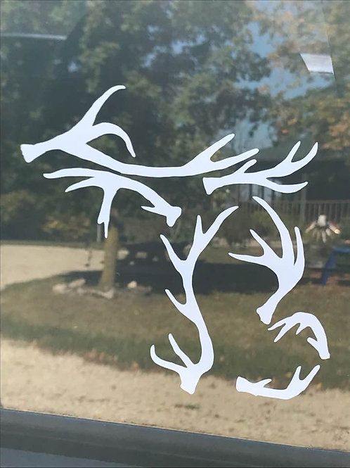 Michigan Antler Decal (small)