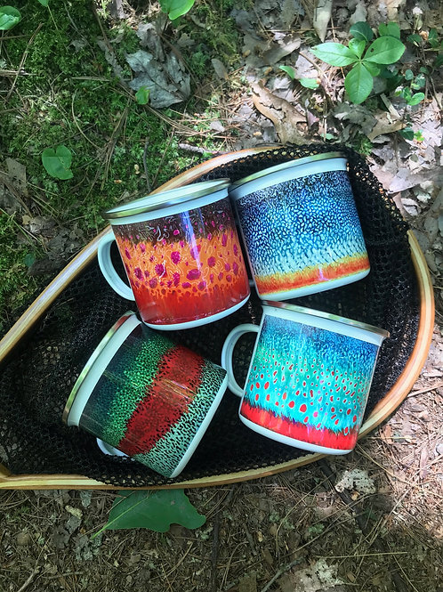 Set of 4 Fish Camp Mugs