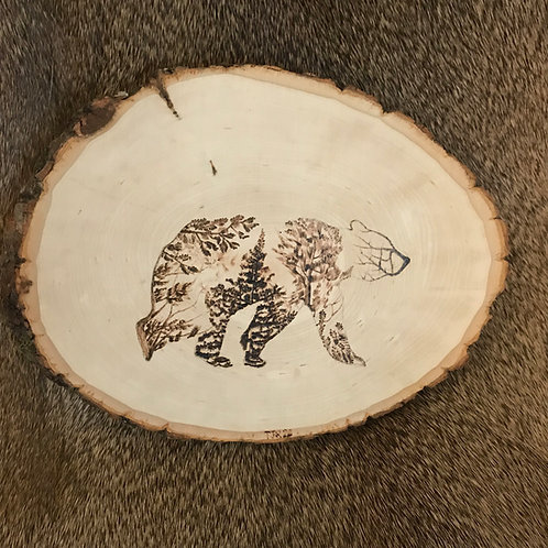 Woodland Bear on Basswood