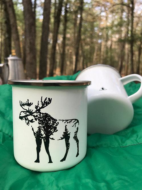 Woodland Moose Camp Mug