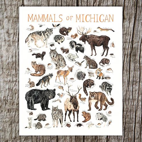Mammals of Michigan Print by Brush & Bark