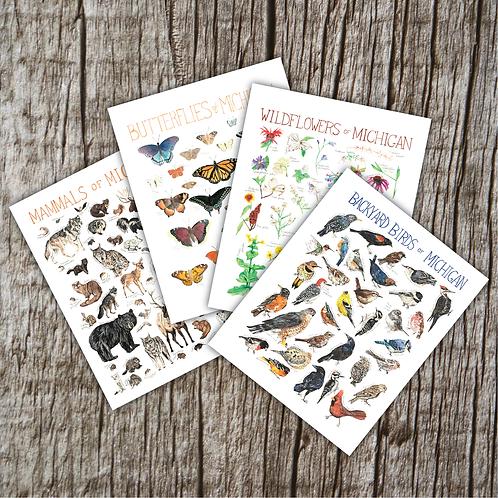 Michigan Wildlife Greeting Cards by Brush & Bark