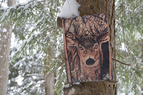Deer Tempered Glass Cutting Board