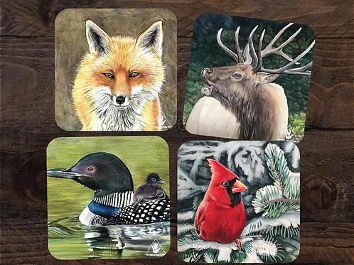 Wildlife Hardboard Coasters