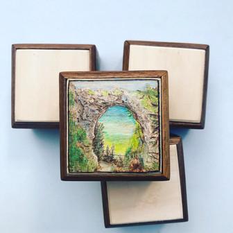 Arch Rock Wedding Ring Box