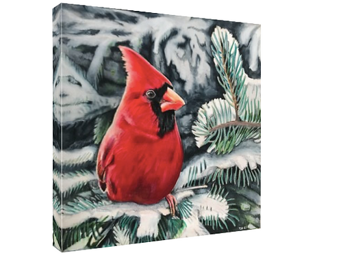 """""""A Sign From Heaven"""" Cardinal Canvas by Tom Reverman"""