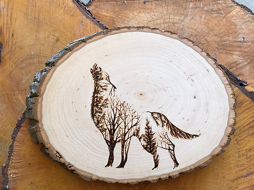 Woodland Wolf on Basswood