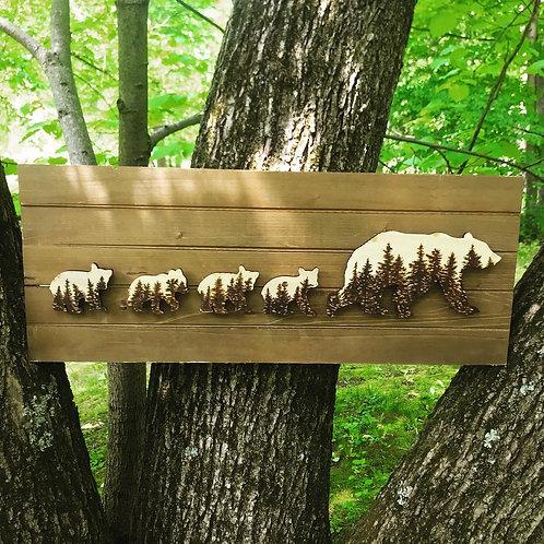 Wood Burned Bears (quads)