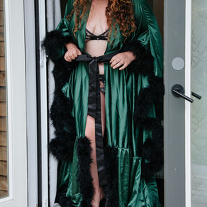 Silk & Feather robe - One Size