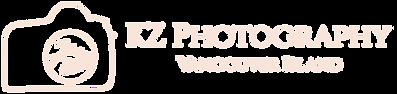 tan -KZ Photography Logo_black logo hori