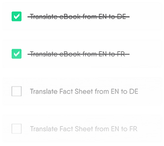 Translation to do list