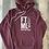 Thumbnail: The Original FTML hoodie - Heather Maroon and White