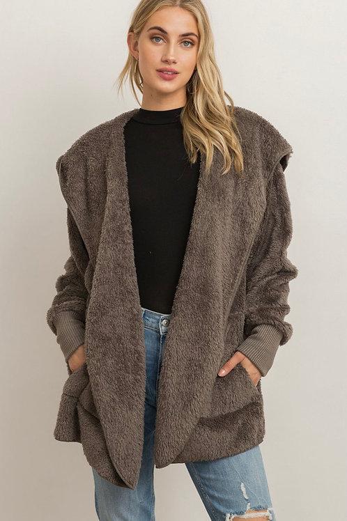 Cozy Sherpa Jacket - Steel Grey