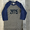 Thumbnail: Youth Unisex Baseball Tee - Navy/Blue - 29715