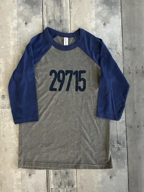Youth Unisex Baseball Tee - Navy/Blue - 29715