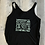 Thumbnail: Flowy Side Slit Tank - Black with It's Fort Mill! In Sea