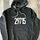 Thumbnail: 29715 or 29708 Hoodie - Dark Heather Grey and White