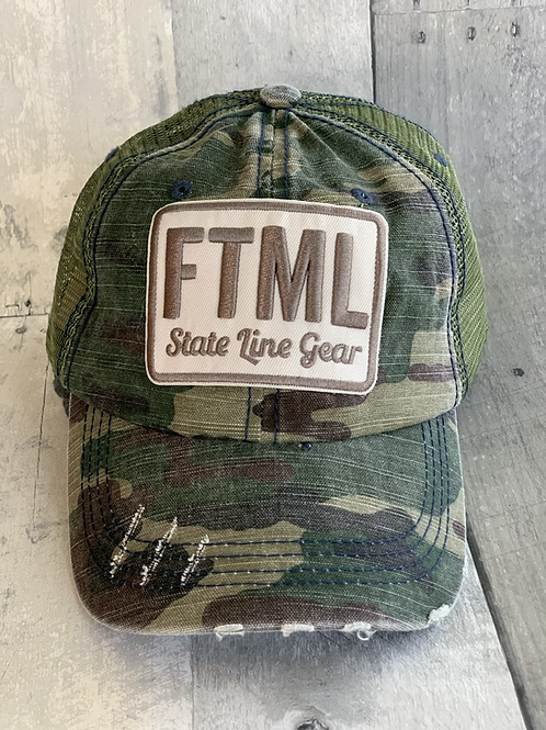 Unisex Baseball Hat - Camo FTML