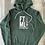 Thumbnail: The Original FTML hoodie - Heather Green and White